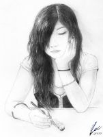 I Sketched the Girl Infront by lei-melendres