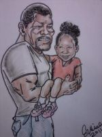Muscle Grandpa and Granddaughter by scottynobody