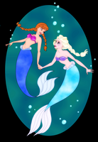 Frozen Mermaids by bhudicae