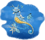 Kingdra's Day by allocen