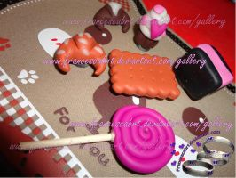 Sweets in polymer clay-dolcetti in fimo by FrancescaBrt