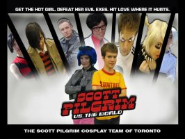 Scott Pilgrim Cosplay poster by sterner2rock