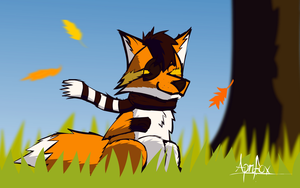 Enoying the Autumn by BuggerTheFox
