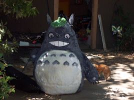 Totoro costume sitting by LilleahWest