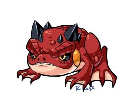 devil toad doodle by rongs1234