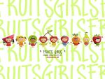 fruits girls wall by JDe