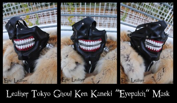 Commission: Leather Tokyo Ghoul Mask - Closed by Epic-Leather