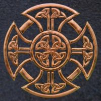 Deep Copper Celtic Cross by DarrianAshoka