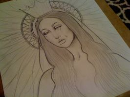 Mother Mary - Sketch by Electricalivia