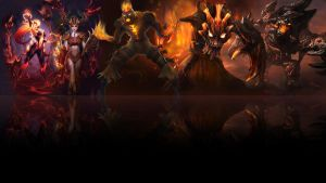 League of legends Wallpaper - Fire 2 (Black) by Desorienter
