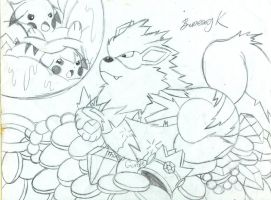 Arcanine's treasure by BunearyK