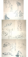 Life Drawings and Gestures by Kuitsuku