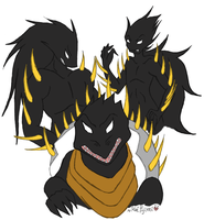 CHAOS DARKNESS 3 FORMS by keifujimi by DEVIOUS-DISCORD-RP
