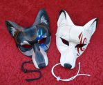 Tattoo Wolf Leather Masks by merimask