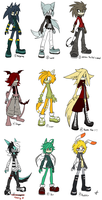 Sonic male Adoptables :closed: by UnknownSpy