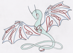 Celtic Knotwork Wyvern colored by shiari
