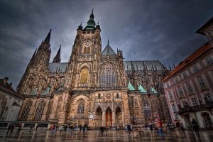 Saint Vitus's Cathedral HDR by lesogard