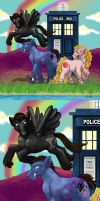 MLP-Dr Who: 9+Rose+Jack by WolfenM