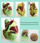 Tree Frog Stone Pendant - SOLD by Bittythings