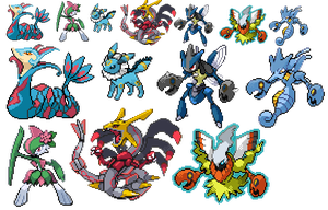 Pokemon fusions by Melodys-TARDIS