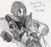 30 OTPs - Beast Boy + Raven by ryukodragon