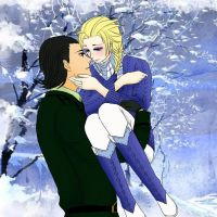 Loki and Elsa *Winter Love* by ElsaLaufeyson