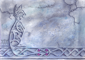 Celtic knot-work cat by Penny-Dragon