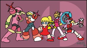 Super Smash Bros. Megaman Final Smash alt. 2 by GrayWeis