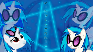 Vinyl Scratch DJ-P0N3 'Lights and Neons' Wallpaper by BlueDragonHans