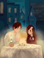 Romano x OC - Lady and the Tramp by GydroZMaa