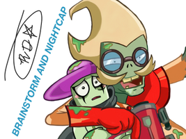 PvZ Heroes-Prof. BS and NC(Rick and Morty ref.) by CrystiliaLance