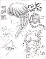 Various Undertaker doodles by TheUndertakersKitty