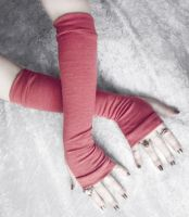 Rose Madder Arm Warmers by ZenAndCoffee