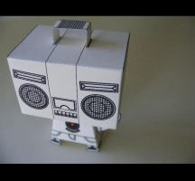 Boombox Head PaperToy WIP by 231705