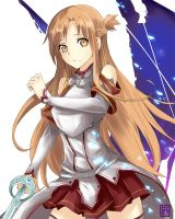 Asuna- Sword art online by hirokiart