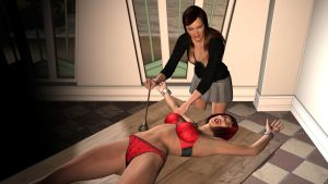 Shayla Tickling Lori 1 by Threedimaxofmymind