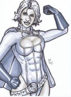 Power Girl con sketch by BanebrookStudios