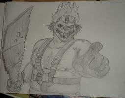 Twisted Metal 2012 Sweet Tooth Drawing / art by SuperFIFIBros
