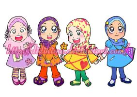 All Little Lady Muslims Color by didihime