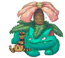 Venusaur And Krokorok by JinxedTarotCard