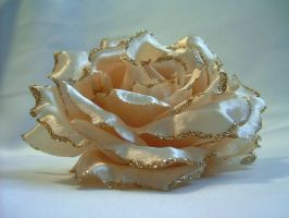 Champagne Fabric Flower 02 by sweetlilfly