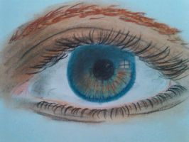 pastell charocals drawing eye by Sonnenelfe
