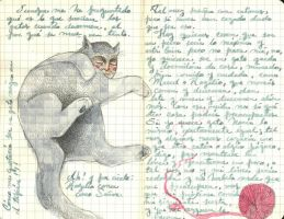 Gato Flojo - journal14 by LadyOrlandoArt