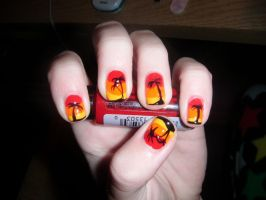 Sunset nails by not-a-pelican
