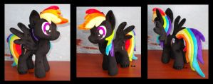 little black Rainbow Dash by MLPT-fan
