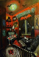 Wednesday 13 Room by KylieRussell666