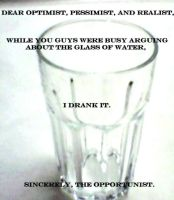 The Glass of Water is: Gone by Dreamcraeft