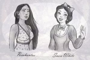 Pocca and Snowie by Morloth88