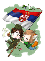 Hetalia, Serbia-kun and me by Foxygene