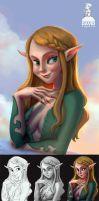 Ambient Occlusion Painting process by artspell